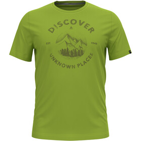 Odlo Nikko Print T-Shirt S/S Crew Neck Men macaw green/graphic